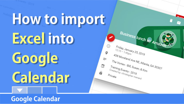 Import Excel into a Google Calendar