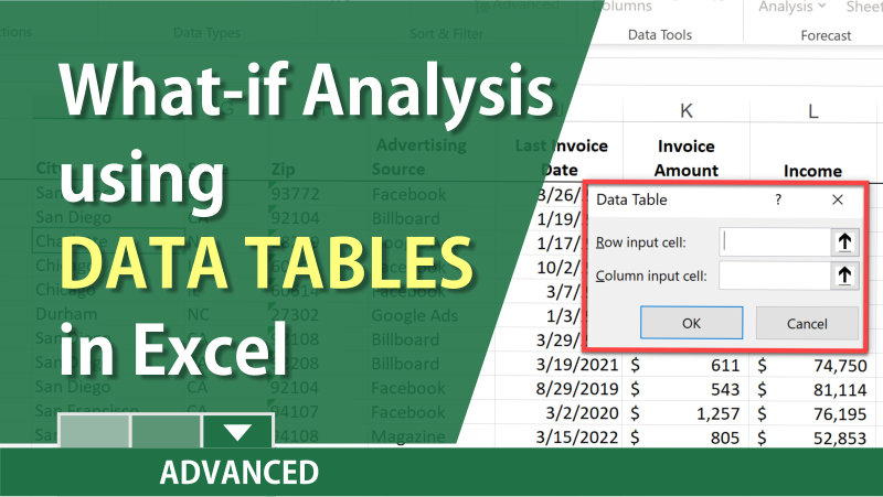 Use What-If Analysis with Data Tables in Excel