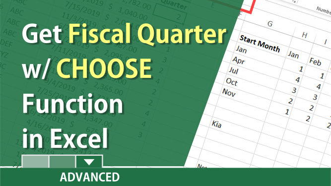 Covert date to fiscal quarter in Excel