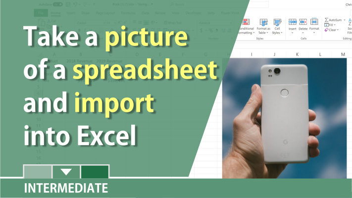 Snap a picture of an Excel table with your smart phone and edit the spreadsheet