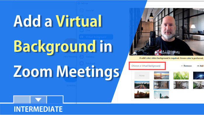 Use a virtual background with Zoom Meetings or RingCentral Meetings