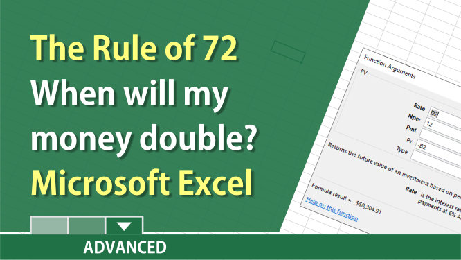 The Rule of 72 answers