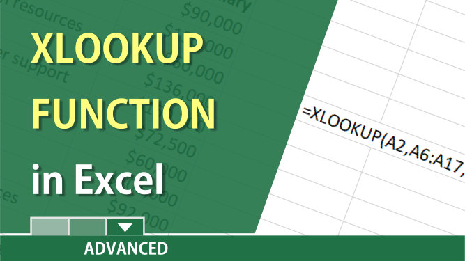 XLOOKUP function in Excel