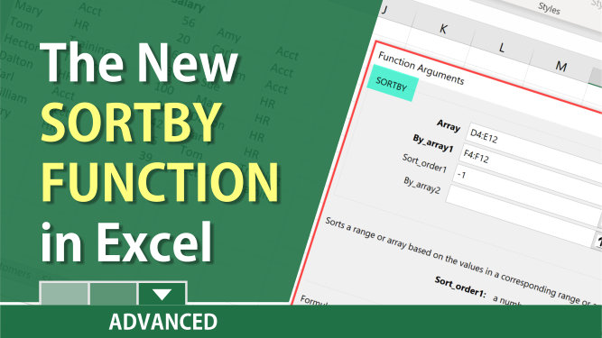 SORTBY Function in Excel - Dynamic Array Function