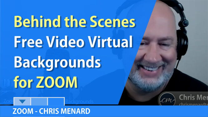 Zoom Free Virtual Video Backgrounds - behind the scenes video