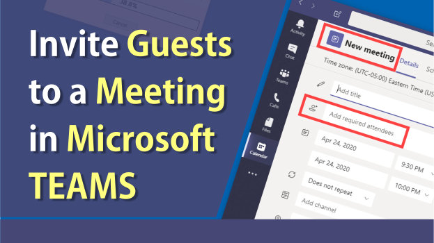 Invite guests to a Teams Meeting