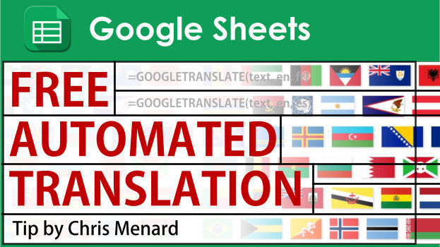 Translate languages in Google Sheets with GOOGLETRANSLATE function