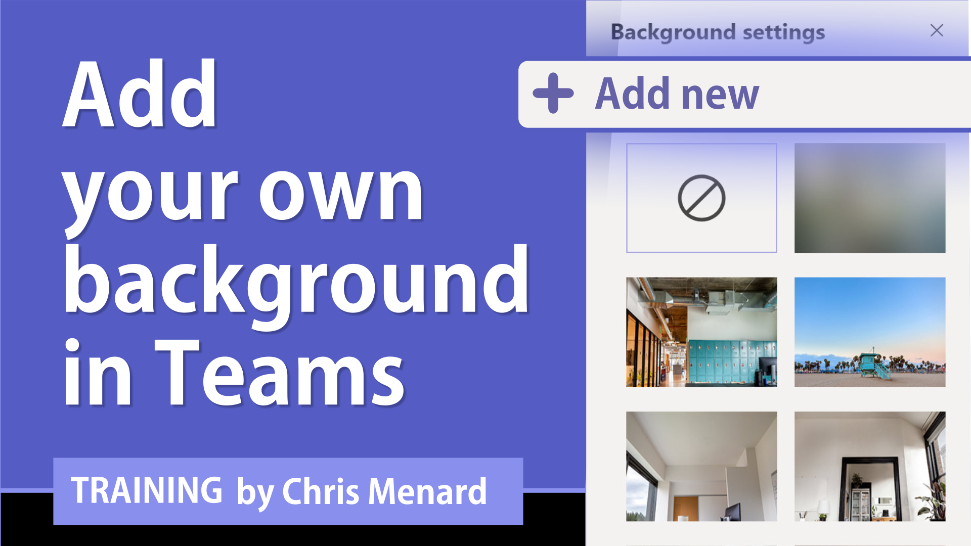 Teams add your own virtual background directly in Teams
