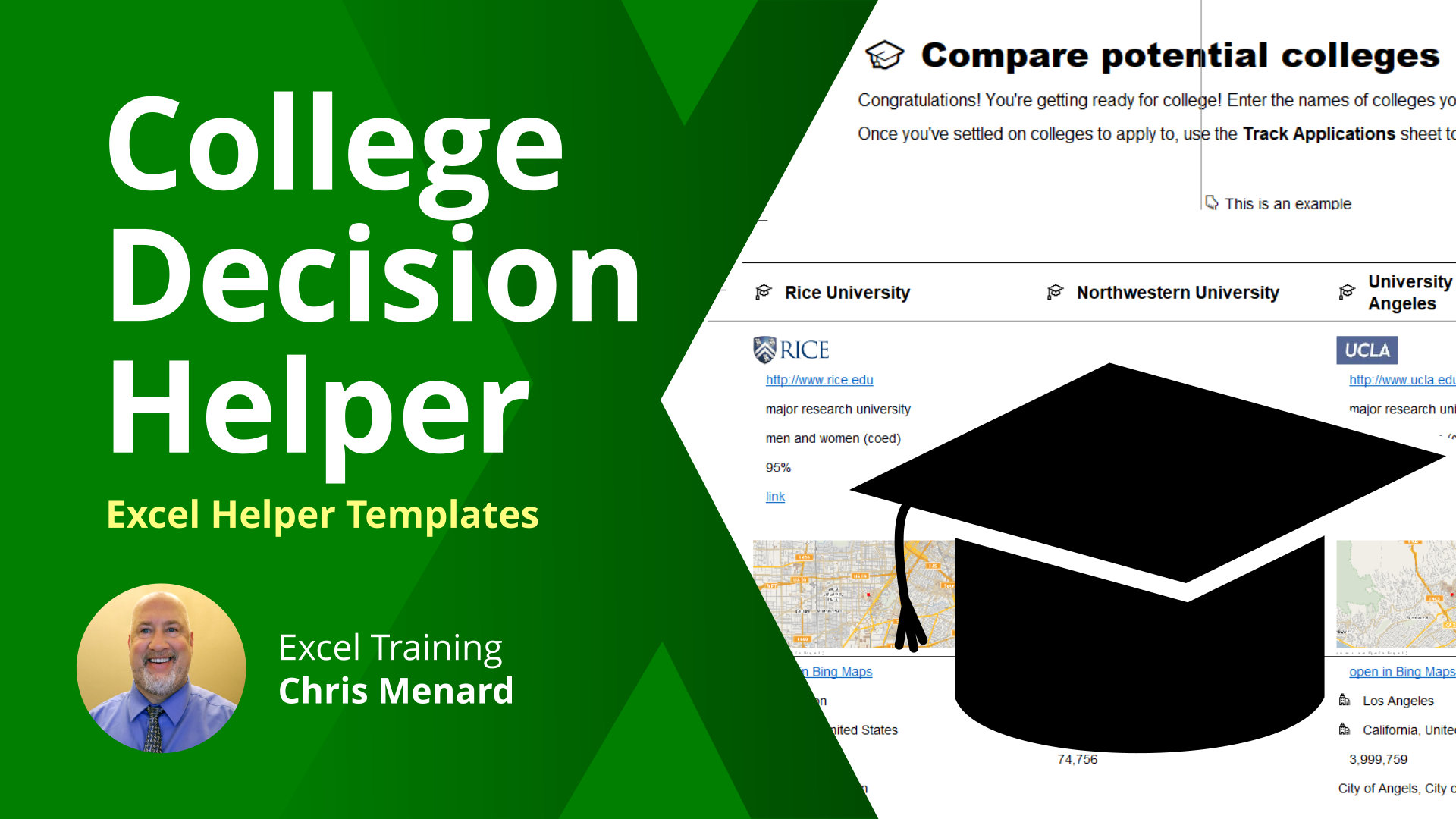 Excel: College Decision Helper Template