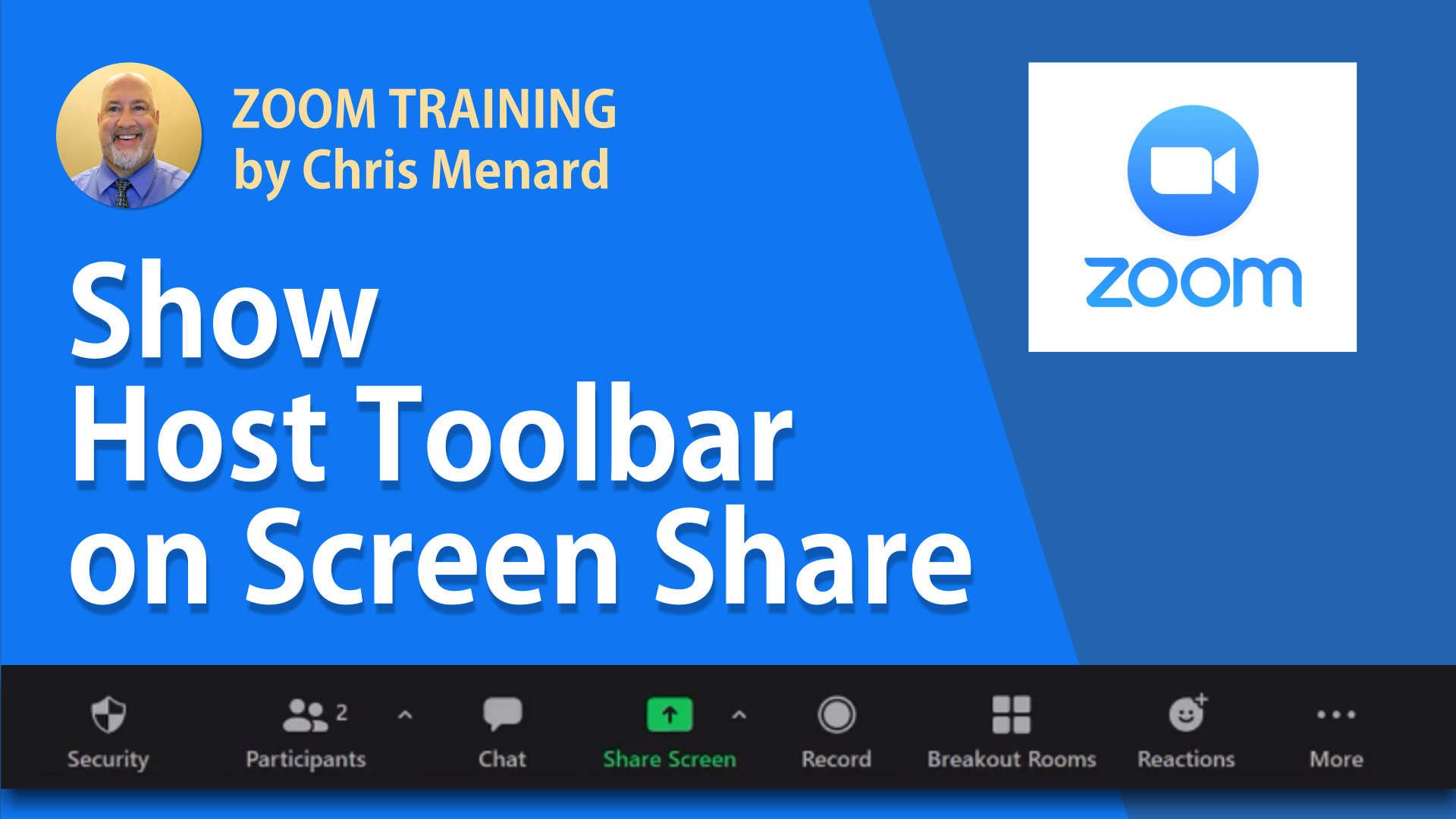 Zoom - Show host toolbar controls during screen share