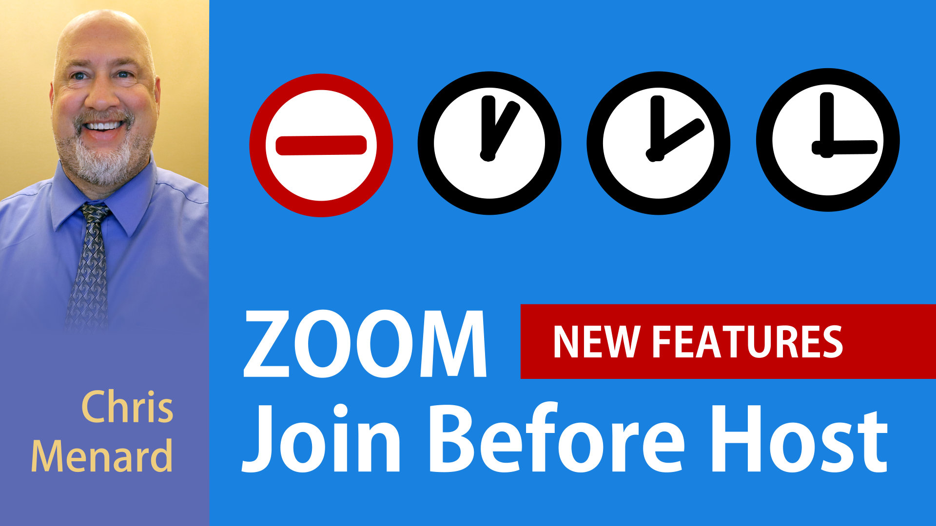 ZOOM - Join Before Host with Time Limits