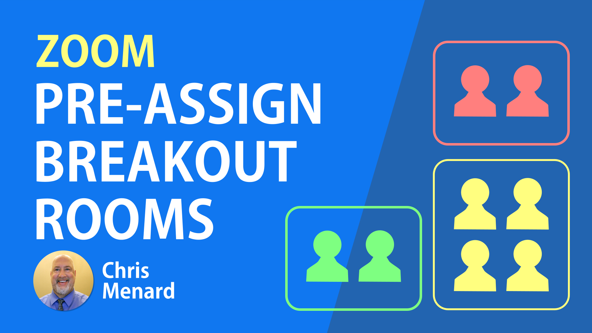 Pre-assign breakout rooms in Zoom