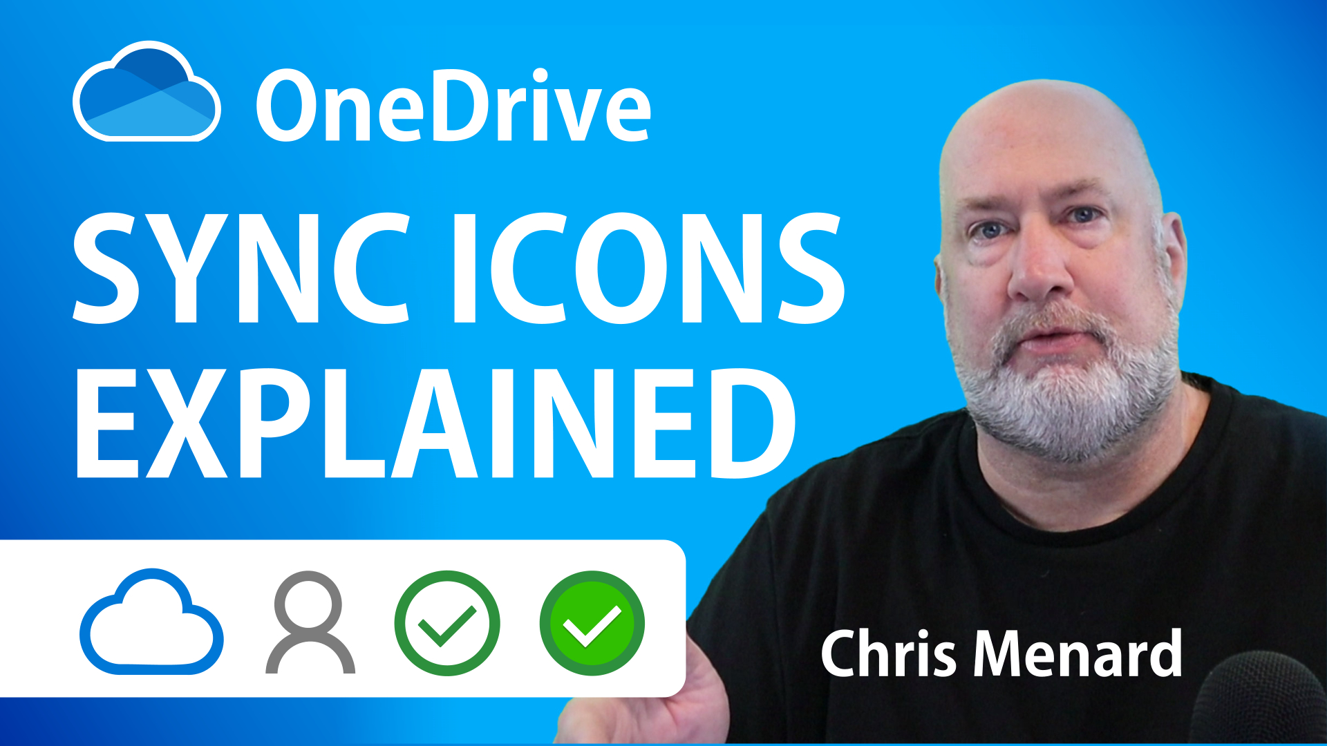 OneDrive sync icons explained