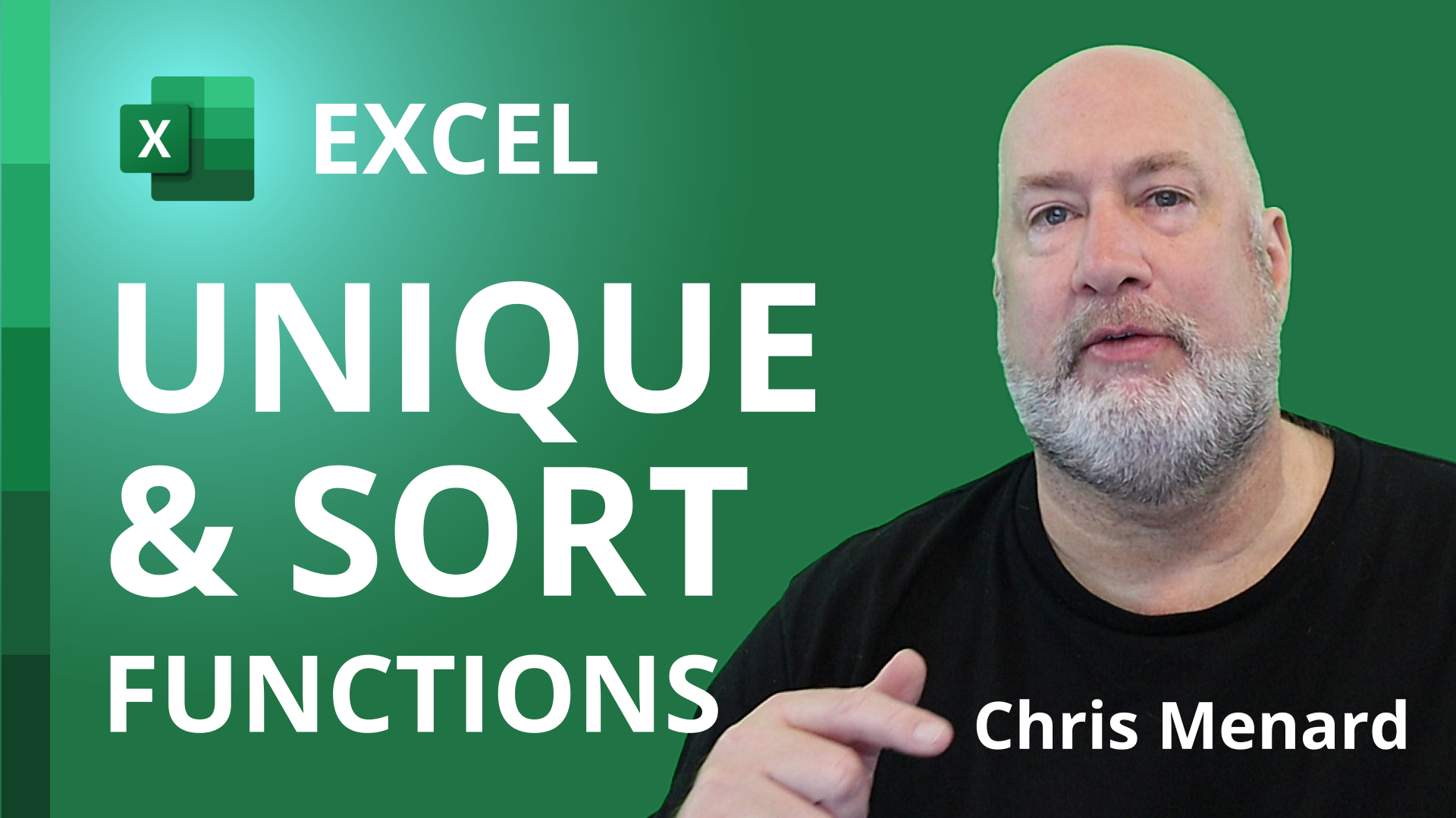 Excel: Combining Unique and Sort functions