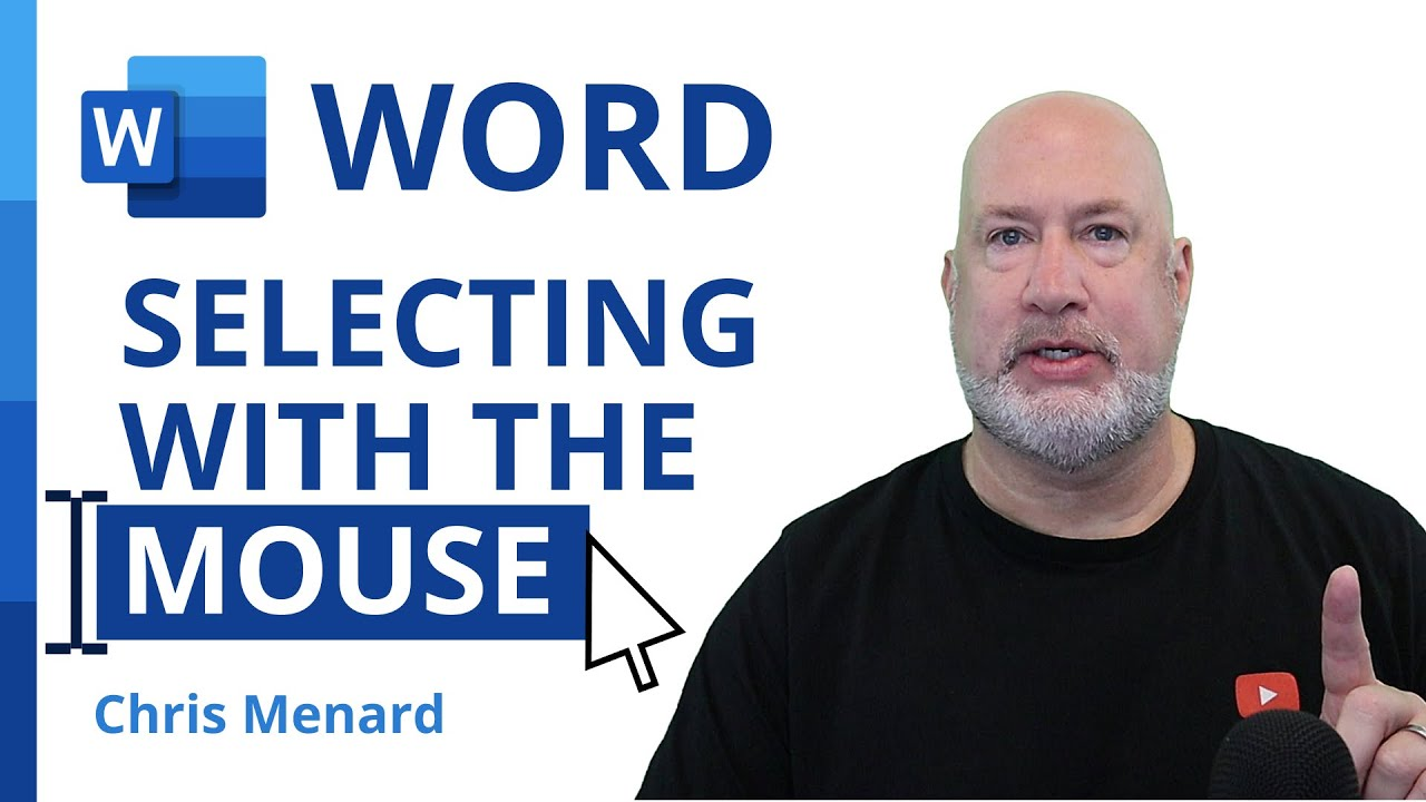 Word - How to correctly select a paragraph, sentence, word, or the entire document with the mouse