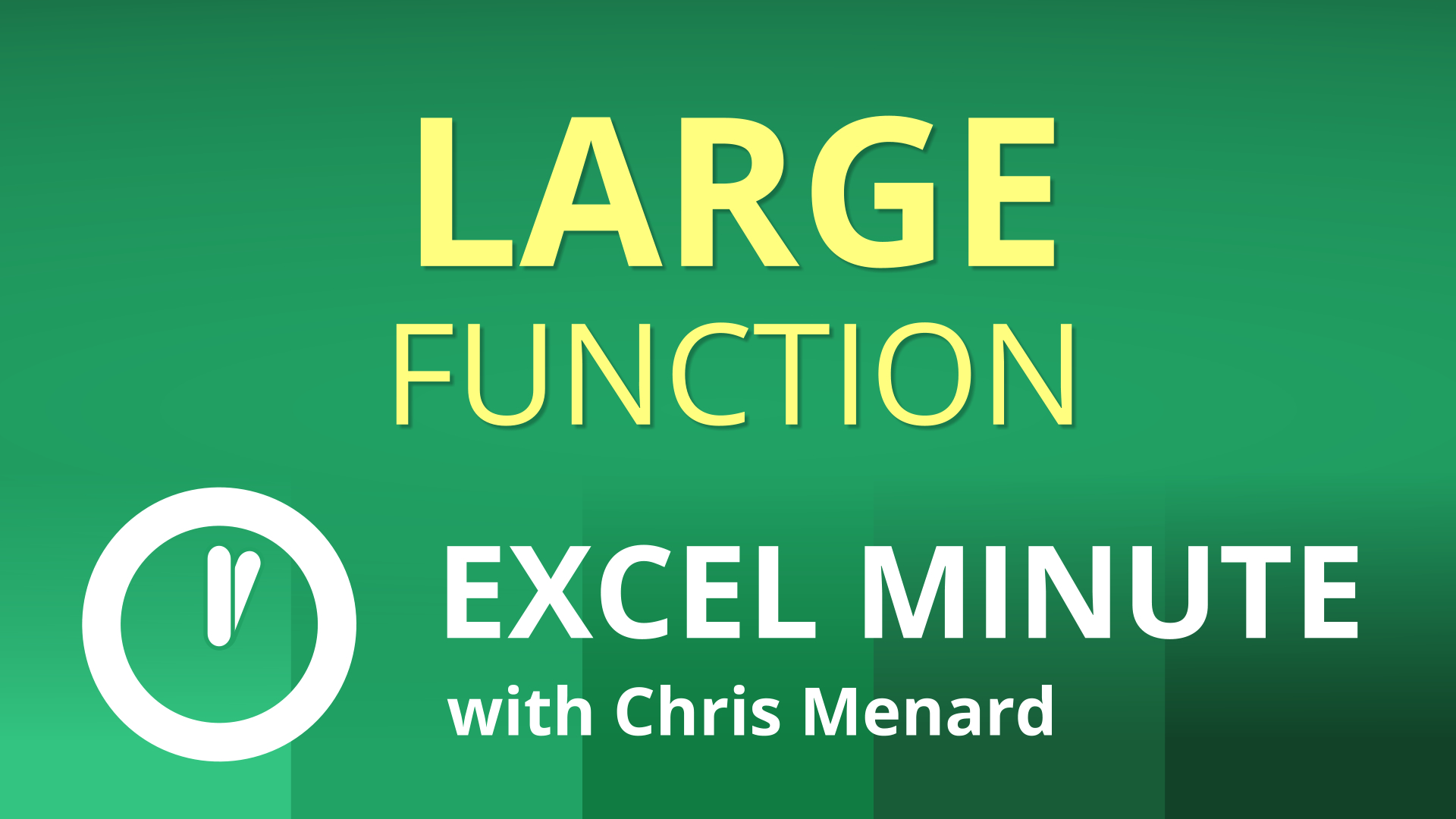 Excel LARGE function | Find the second, third, n-th largest value | Excel One-Minute Quick Reference