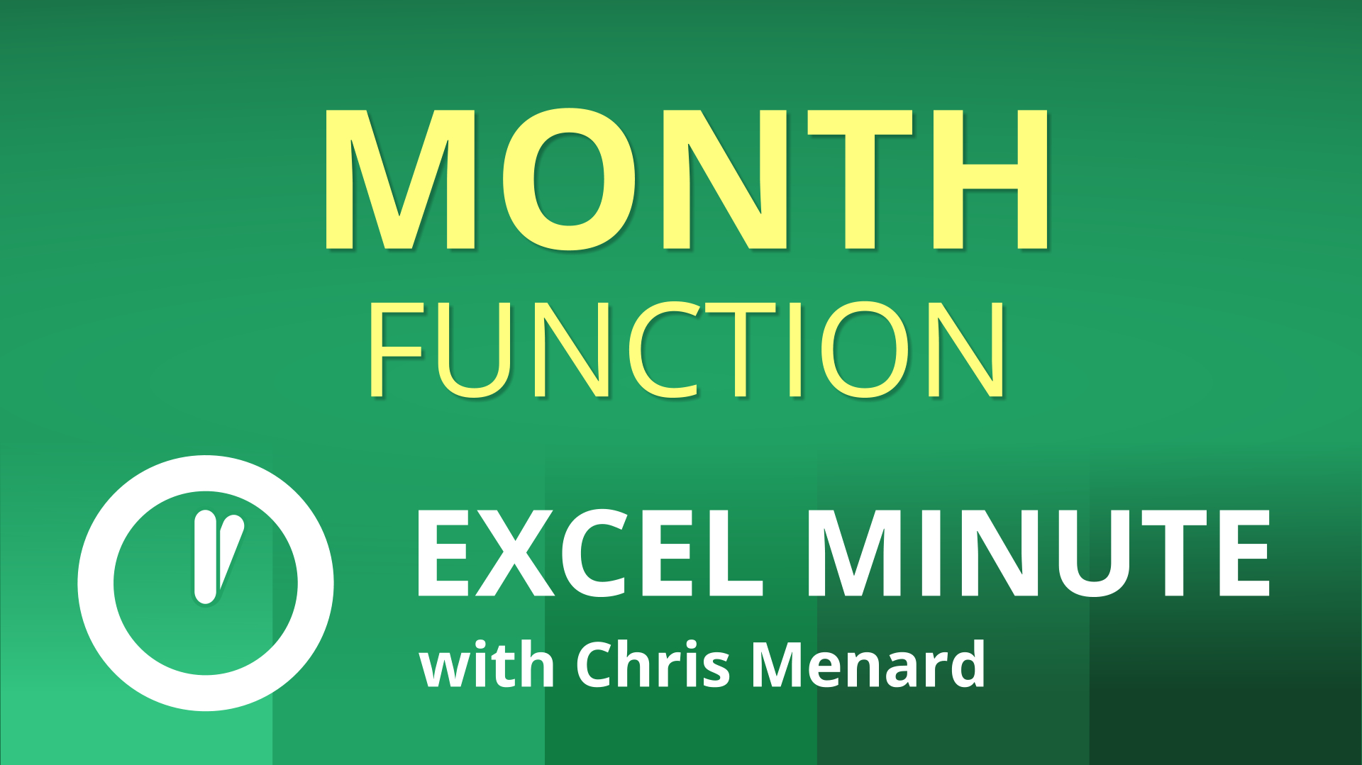 Excel MONTH Function - extract the month from a date | Excel One-Minute Quick Reference