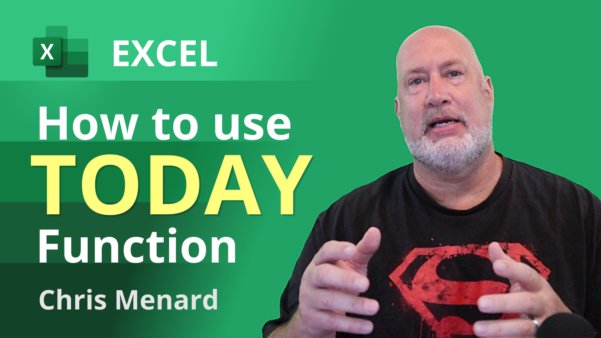 How to use the TODAY function in Excel