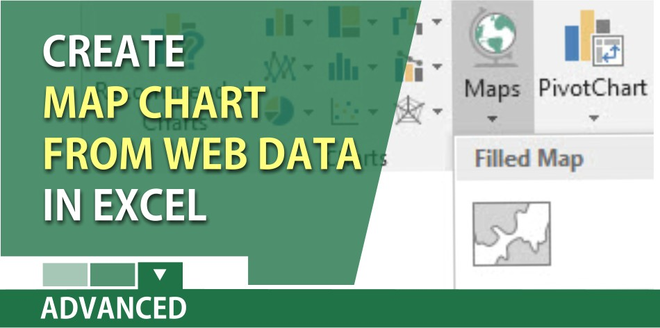 Create a map chart in Excel from Web data