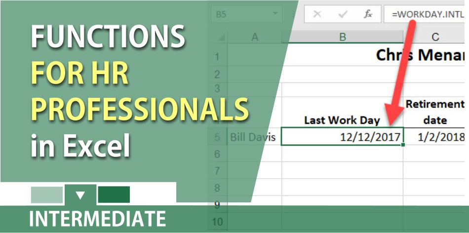 Excel Functions for HR Professionals