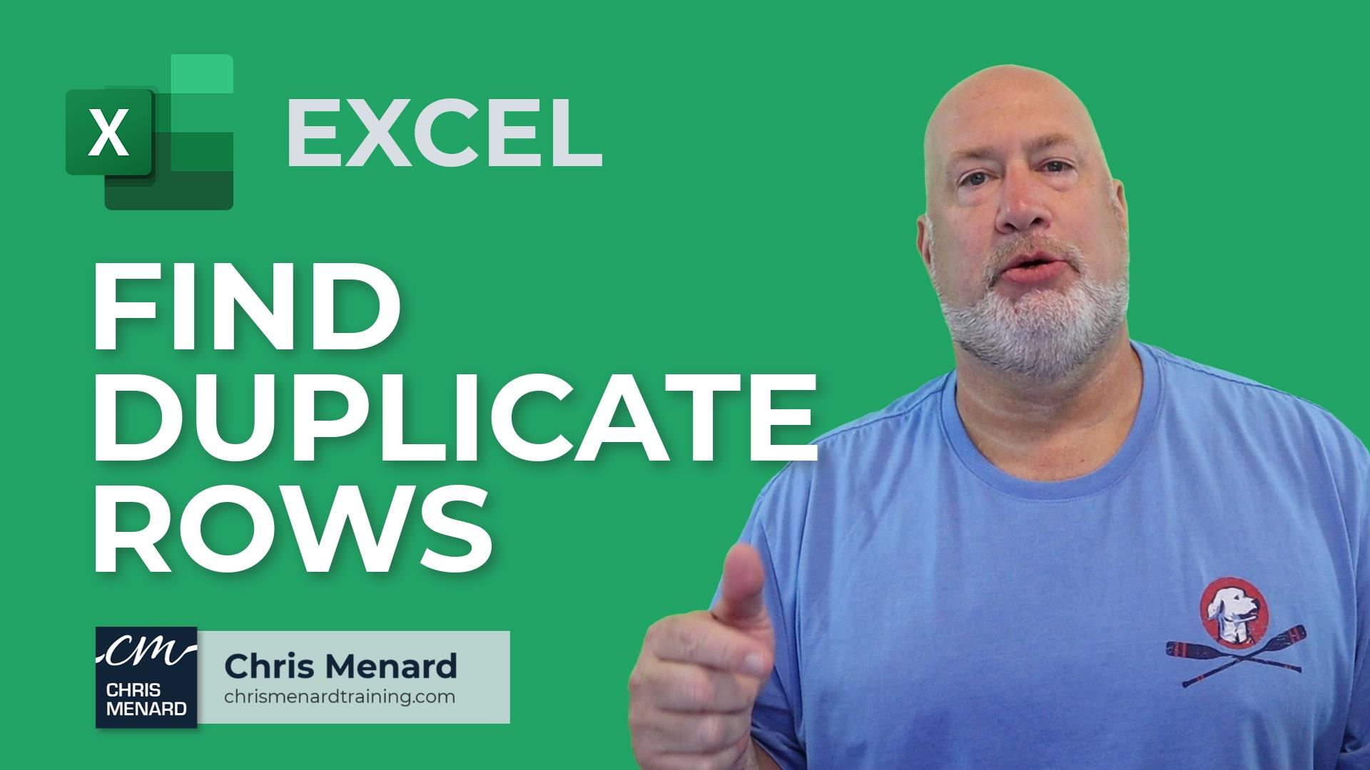 Excel - Find & Highlight Duplicate Rows - 3 Methods | Conditional Formatting