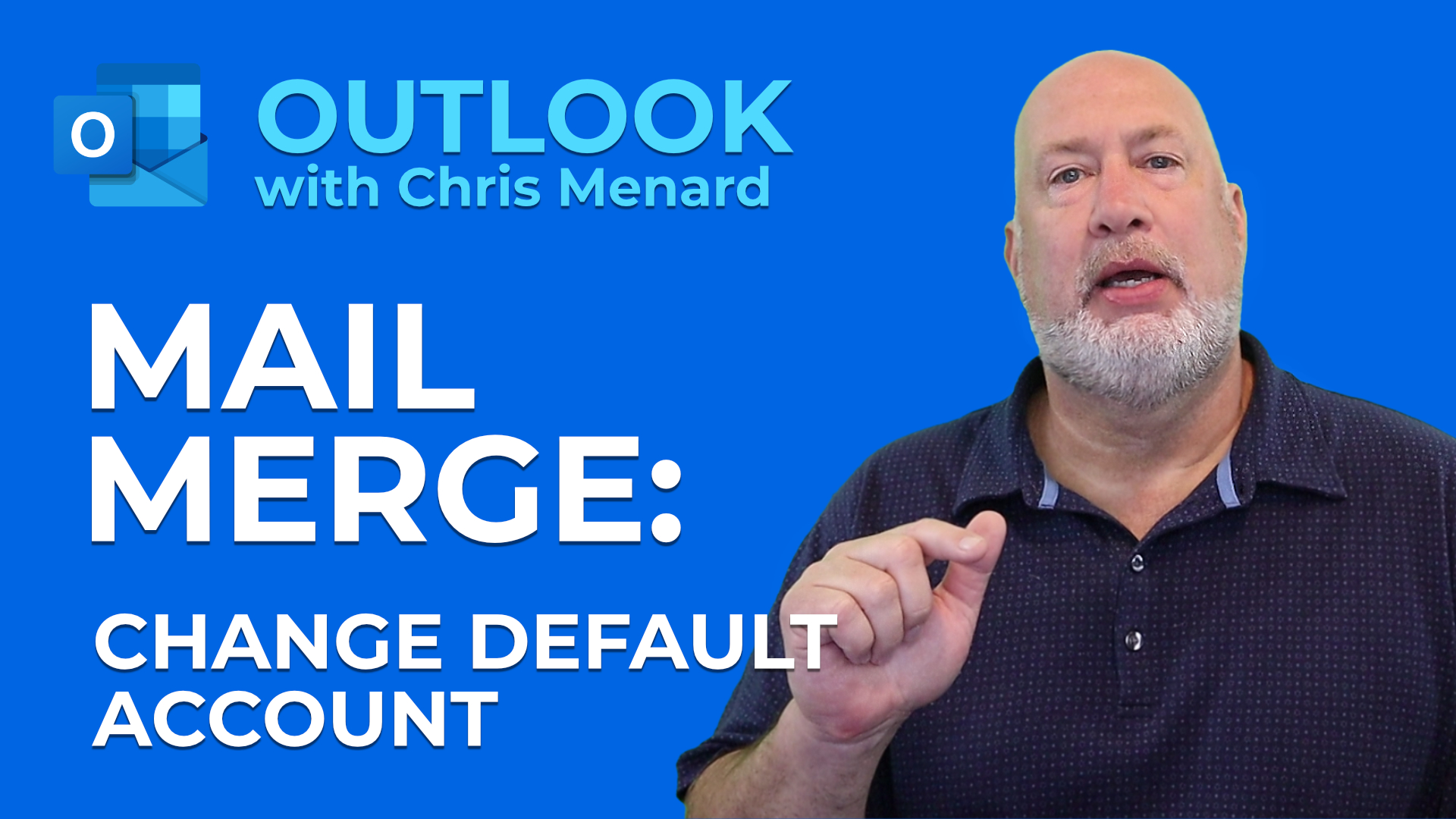 Mail Merge: How to change default sending account in Outlook
