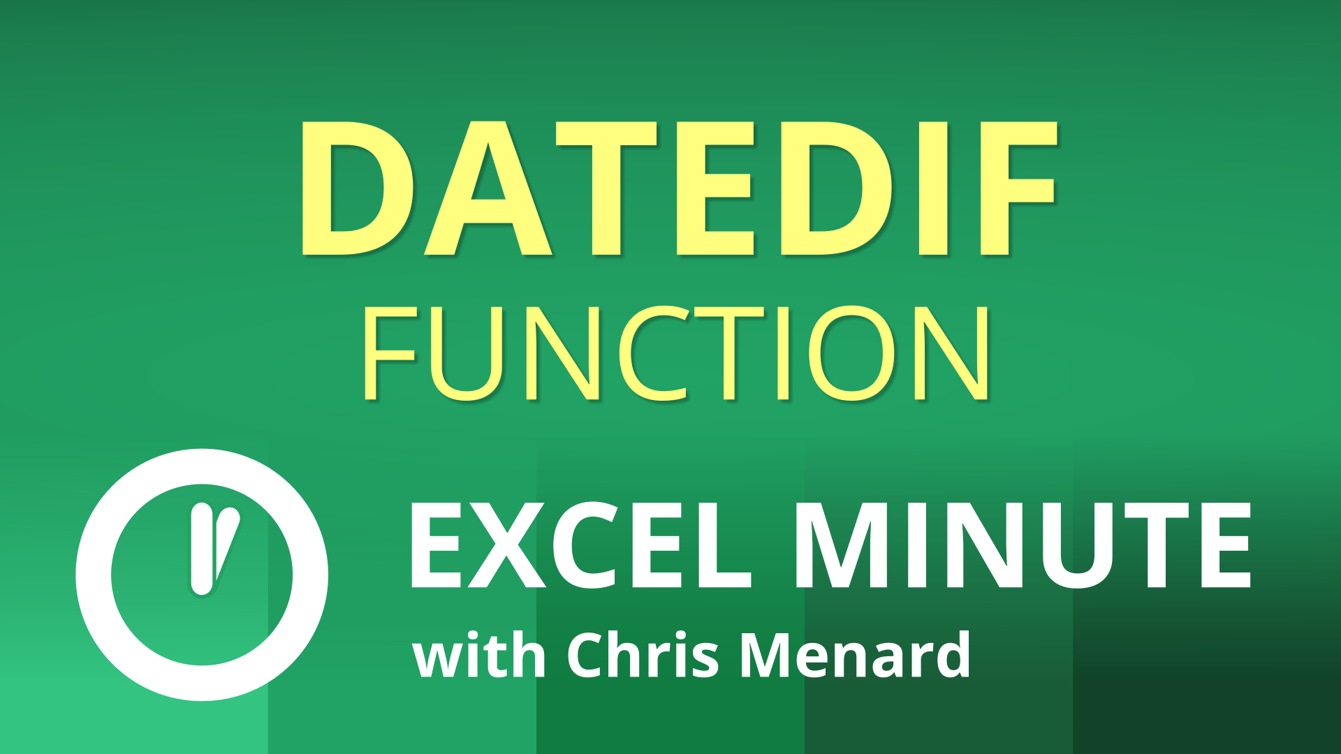 Excel DATEDIF Function |  Excel One Minute Quick Reference