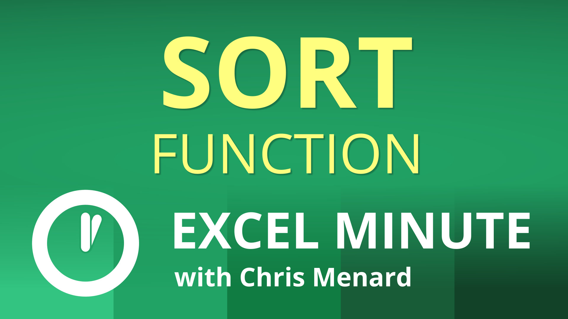 Excel SORT Function | Excel One Minute Quick Reference