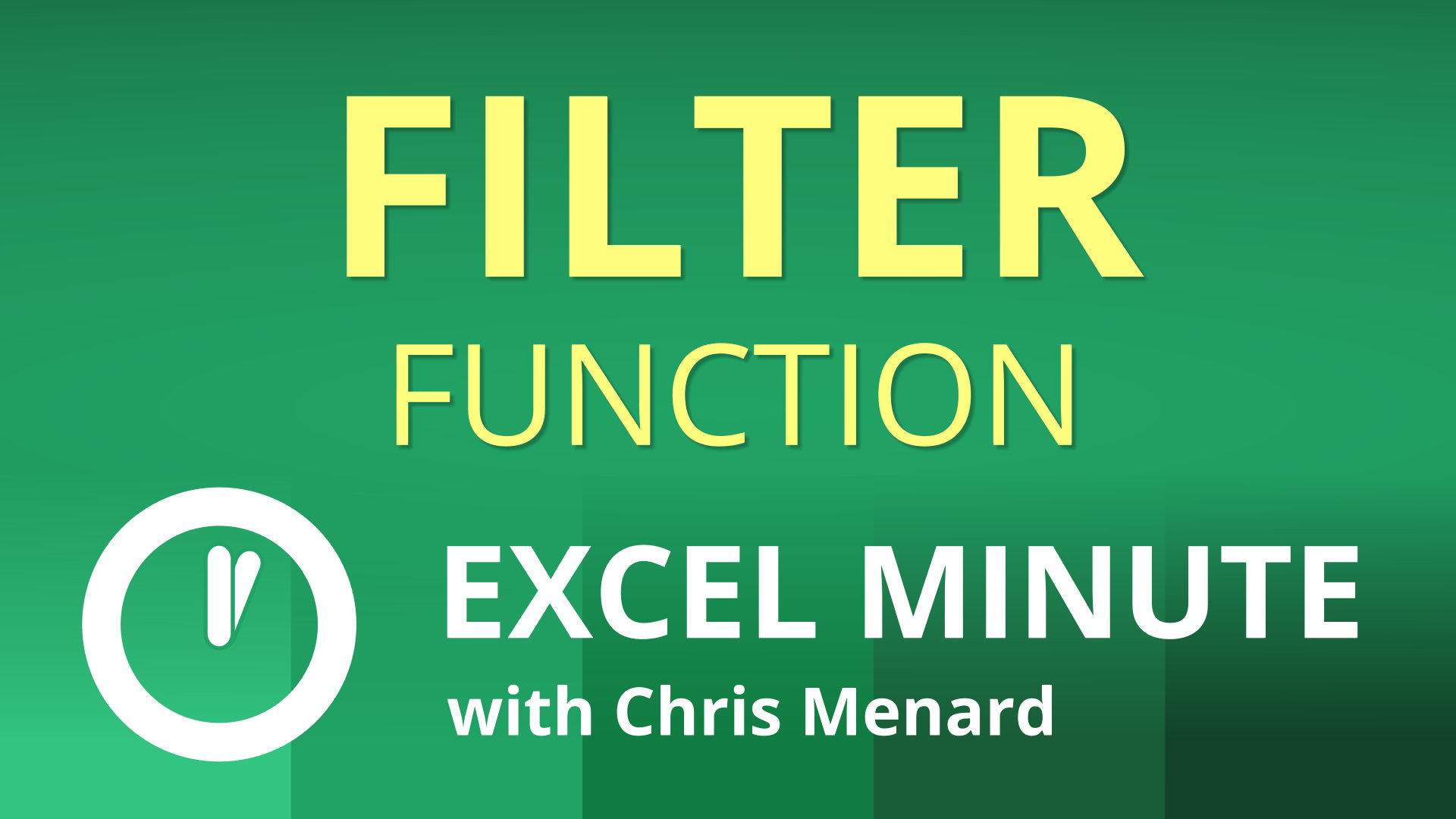Excel FILTER Function |  Excel One Minute Quick Reference