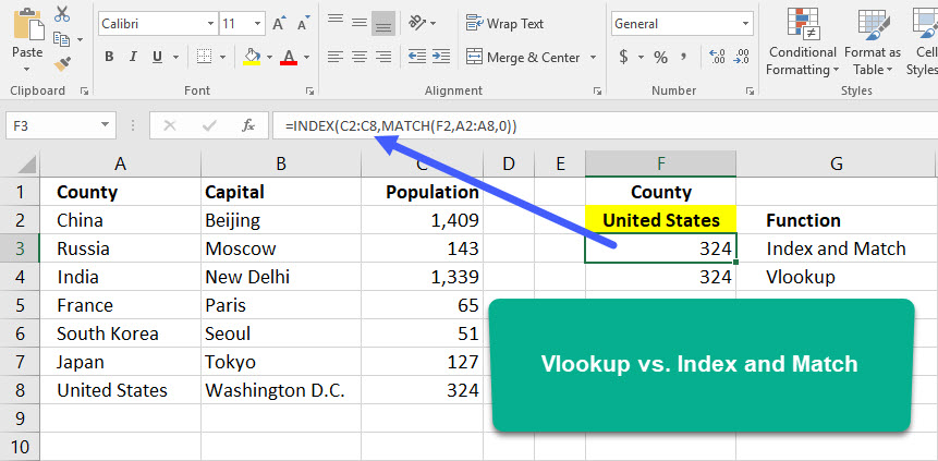 Vlookup vs Index and Match in Excel