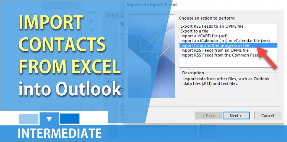 Import Contacts from Excel into Outlook / People