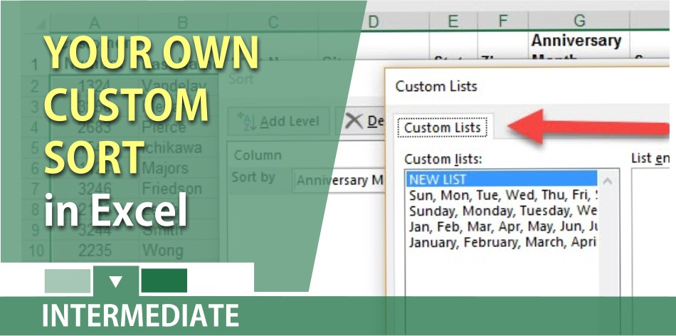 Create your own custom sort in Excel