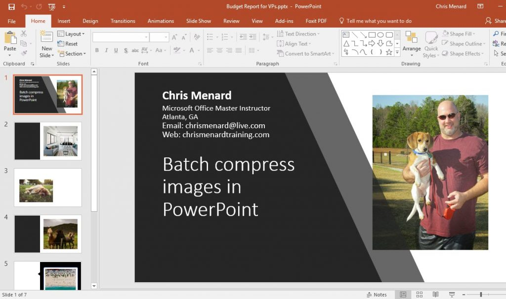 Resize all images in PowerPoint