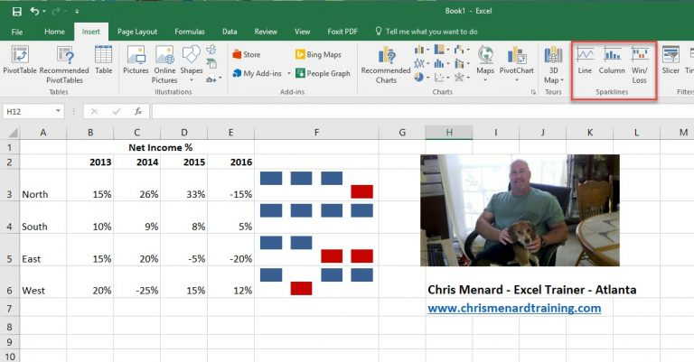 Use Sparklines in Microsoft Excel