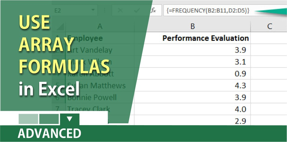 Using Array Formulas in Excel by Chris Menard