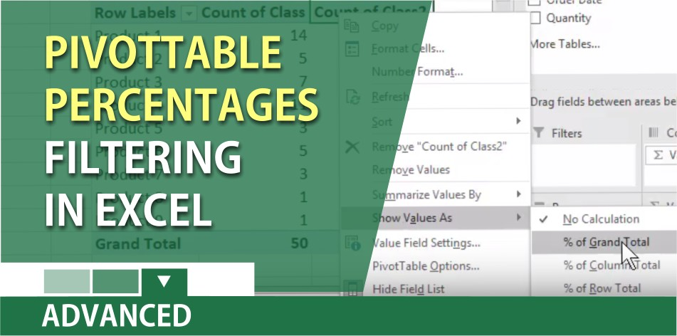 PivotTable Percentages - Show Unfiltered Percent when Filtering