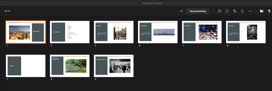 Go to slide shows all my slides as thumbnails for quick access