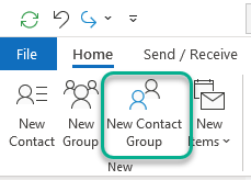 Outlook - Add a Contact Group